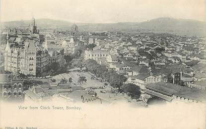 """CPA  INDE """" Bombay, vue de Clock Tower"""""""