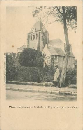 """. CPA  FRANCE 86 """" Vivonne, Le clocher et l'église"""""""