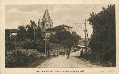 """. CPA  FRANCE 87 """"Oradour sur Glane, Vue prise du pont"""""""