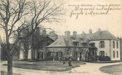 ". CPA  FRANCE 87 ""Mondon, Le château"""