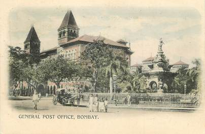 """CPA  INDE """" Bombay, General Post Office"""""""