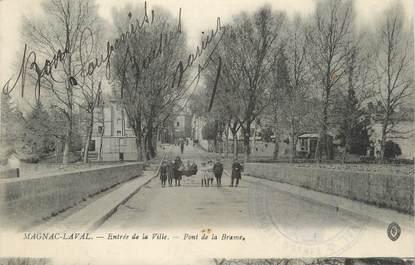 """. CPA  FRANCE 87 """"Magnac-Laval, Entrée de la ville"""""""