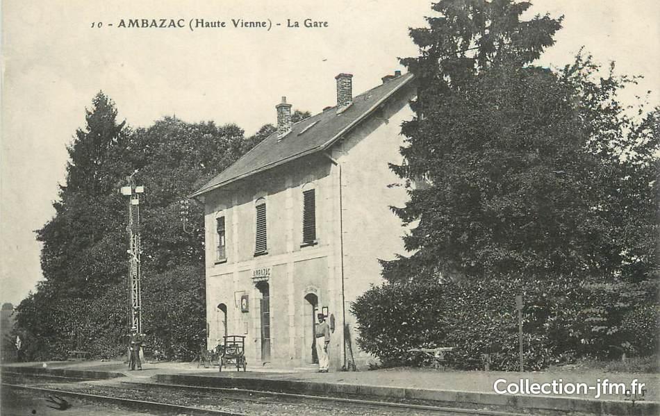 Cpa france 87 ambazac la gare 87 haute vienne for 87 haute vienne france