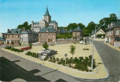 """CPSM  FRANCE 76 """"Héricourt en Caux, la place"""""""