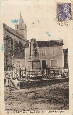 """. CPA FRANCE 87 """"Bujaleuf, L'ancienne place, chevet de l'église"""""""
