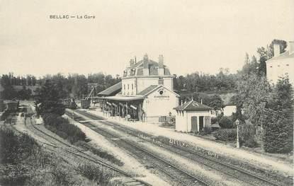 """. CPA FRANCE 87 """"Bellac, La gare"""""""