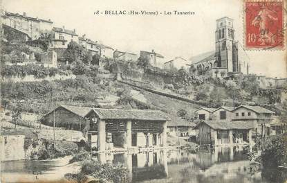 ". CPA FRANCE 87 ""Bellac,  Les tanneries"""
