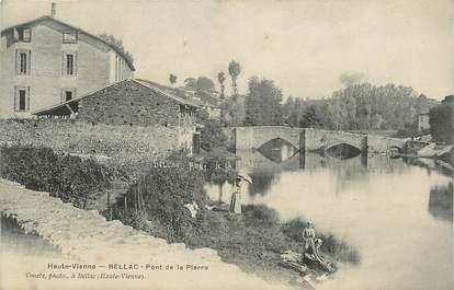 """. CPA FRANCE 87 """"Bellac,  Pont de la Pierre"""""""