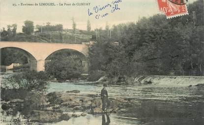 """. CPA FRANCE 87 """"Condat, Le pont"""""""