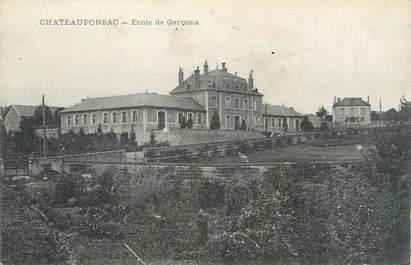 """. CPA  FRANCE 87 """"Chateauponsac, Ecole de garçons"""""""