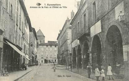 """.CPA FRANCE 87 """" Eymoutiers, Avenue de la Paix et Hôtel de Ville"""""""