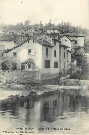 """.CPA FRANCE 87 """" St Junien, Un coin du villagge de Glane"""""""