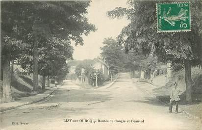 """CPA FRANCE 77  """"Lizy sur Ourcq, Rtes de Congis et Beauval"""""""