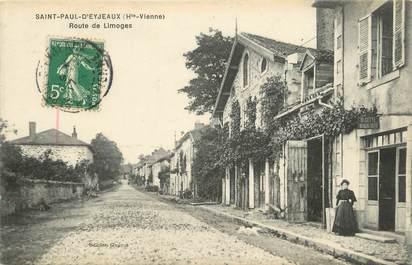 """.CPA FRANCE 87 """"Saint Paul D'Eyjeaux, Route de Limoges"""""""