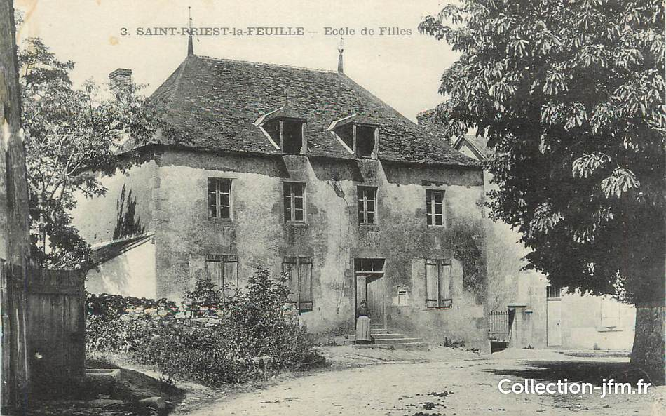 Cpa france 87 st priest la feuille ecole des flles for 87 haute vienne france