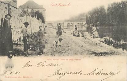 """.CPA FRANCE 87 """"St Junien, Pont Notre Dame et Mégisseries"""""""