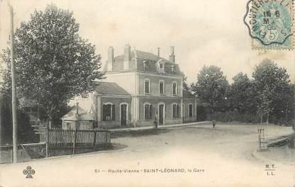 ".CPA FRANCE 87 ""St Léonard, La gare  """