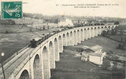 """.CPA FRANCE 87 """"St Léonard, Viaduc de 22 arches"""""""