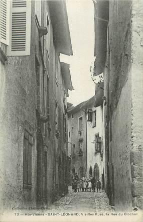 ".CPA FRANCE 87 ""St Léonard,  Vieilles rues, la rue du Clocher"""