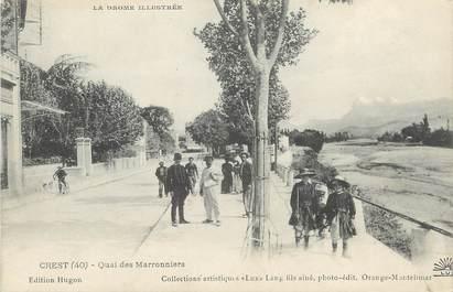 ".CPA FRANCE 26 ""Crest, Quai des Marronniers"""