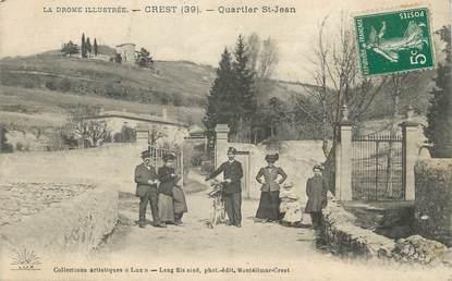 """.CPA FRANCE 26 """"Crest, Quartier St Jean"""""""