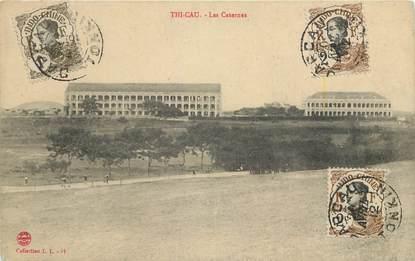 "CPA  INDOCHINE  ""Thi Cau, les Casernes"""
