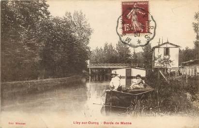 """CPA FRANCE 77  """"Lizy sur Ourcq, les bords de la Marne"""""""