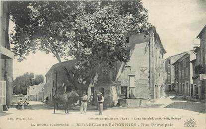 ".CPA FRANCE 26 ""Mirabelle aux Baronnies, Rue principale"""