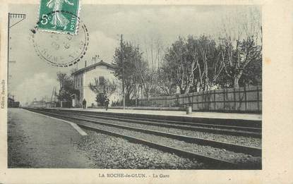 """.CPA  FRANCE 26 """"La Roche de Glun, La gare"""""""