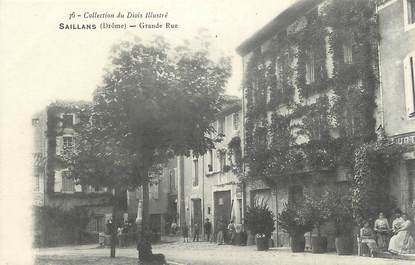 ".CPA  FRANCE 26 ""Saillans, Grande rue"""