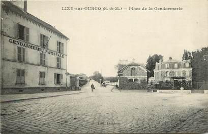 """CPA FRANCE 77  """"Lizy sur Ourcq, Place de la Gendarmerie"""""""
