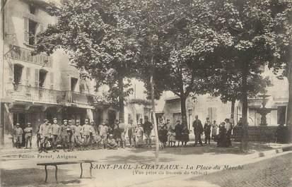 Cpa france 26 saint paul trois ch teaux la place du - Office du tourisme saint paul trois chateaux ...