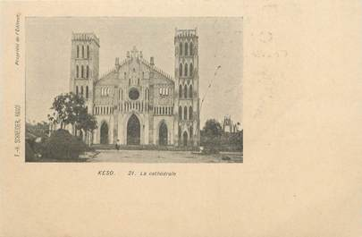 "CPA  INDOCHINE  ""Keso, la cathédrale"""