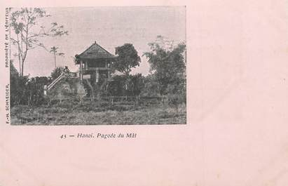 """CPA  INDOCHINE  """"Hanoi, Pagode du Mât"""""""