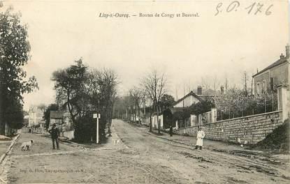 """CPA FRANCE 77  """"Lizy sur Ourcq, Rtes de Congy et Beauval"""""""
