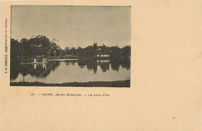 """CPA  INDOCHINE  """"Hanoi, Jardin botanique, la Pièce d'eau"""""""