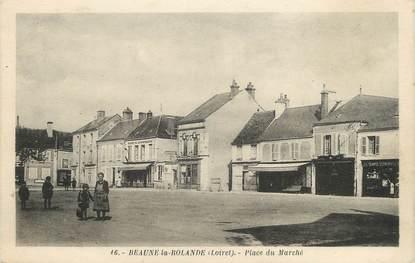 """.CPA   FRANCE 45 """" Beaune la Rolande, Place du marché"""""""
