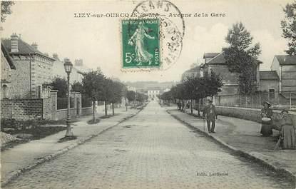 """CPA FRANCE 77  """"Lizy sur Ourcq, avenue de la gare"""""""