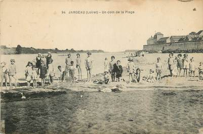 """.CPA   FRANCE 45 """"Jargeau, Un coin de la plage"""""""