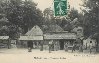 ".CPA   FRANCE 45 ""Malesherbes, Taverne du Rocher"""