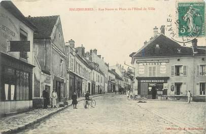 """.CPA   FRANCE 45 """"Malesherbes, Rue neuve et place de l'Hôtel de Ville"""""""