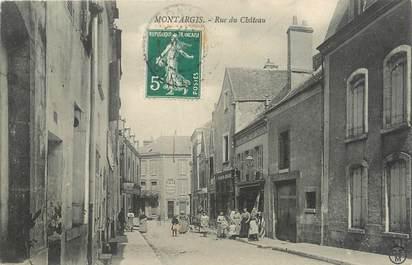 ".CPA   FRANCE 45 ""Montargis, Rue du Château"""
