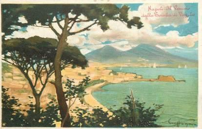 """CPA ITALIE """"Naples, Il Vesuvio dalla Touba di Virgilio"""""""