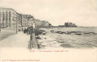 """CPA ITALIE """"Naples, Via Caracciolo e Castel dell'Ovo"""""""