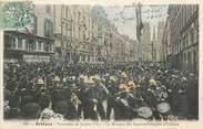 """45 Loiret .CPA  FRANCE 45 """"Orléans, La procession de Jeanne d'Arc, la musique des sapeurs pompiers""""/POMPIERS"""