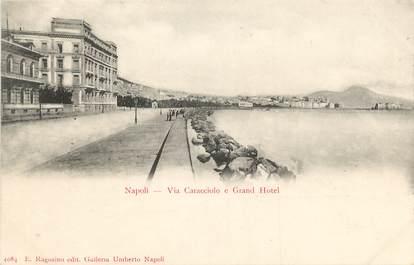 "CPA ITALIE ""Naples, Via Caracciolo e Grand Hotel"""