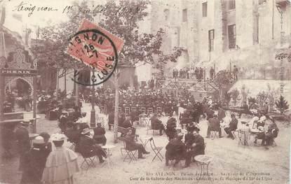 """.CPA  FRANCE 84 """"Avignon, Palais des Papes, souvenir de l'exposition """""""