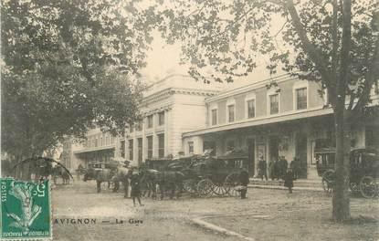 """.CPA  FRANCE 84 """"Avignon, La gare"""""""