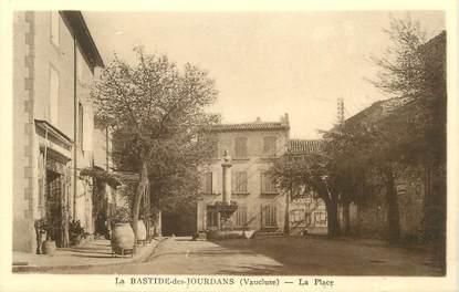 """.CPA FRANCE 84 """" La Bastide de Jourdans, La place"""""""