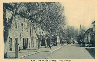 """.CPA FRANCE 84 """" Cheval Blanc, Route nationale"""""""